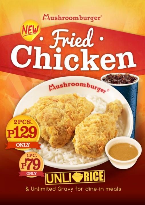 Mushroom Burger Fried Chicken